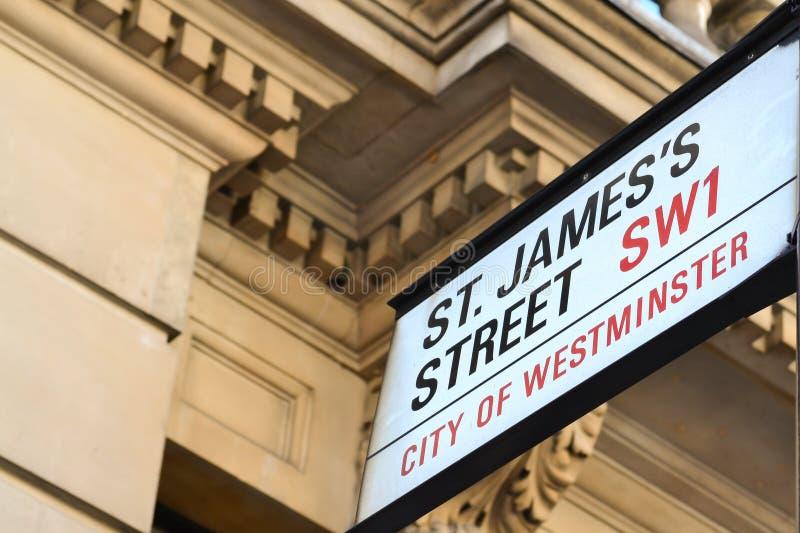 Rua do St James imagens de stock royalty free