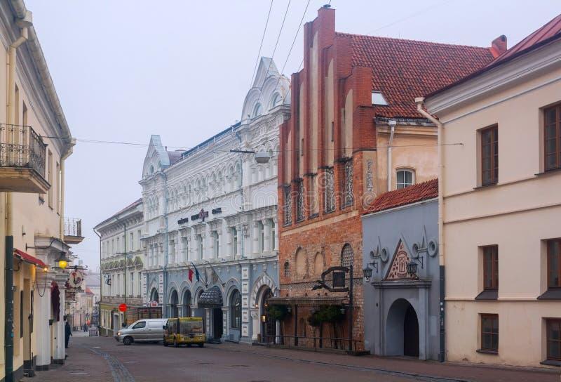 Rua do vartai de Ausros, Vilnius, Lituânia fotografia de stock royalty free