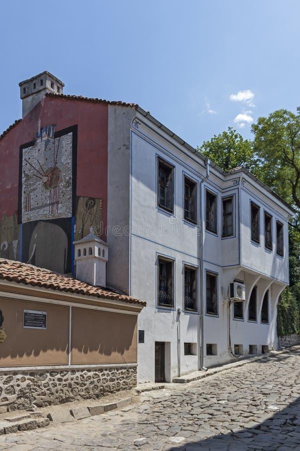 Rua e casas do século XIX na reserva arquitetónica e histórica a cidade velha no cit fotografia de stock