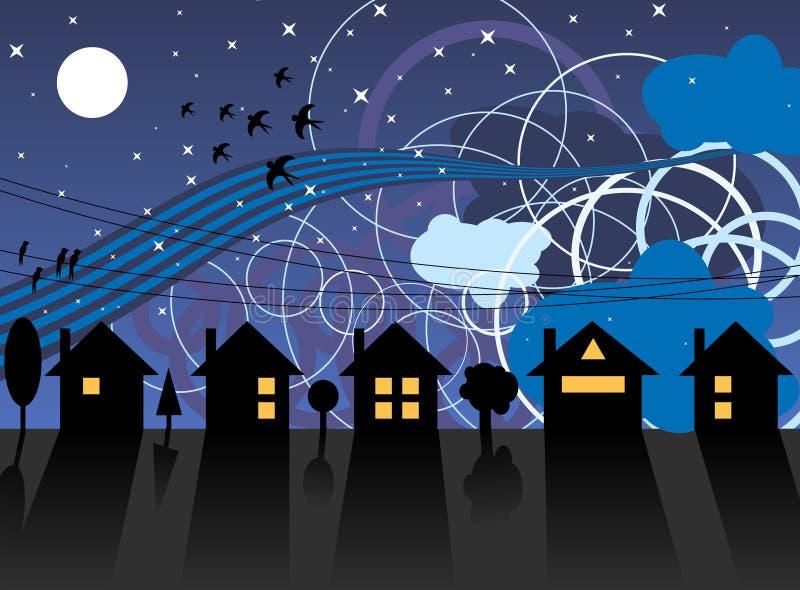 Rua e sonhos da noite ilustração royalty free