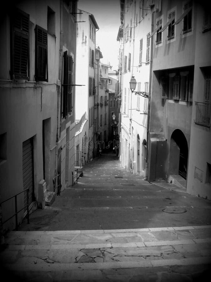 Rua em agradável, France fotografia de stock royalty free
