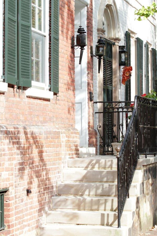 Rua em Alexandria, Virgínia fotografia de stock