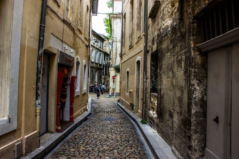 Rua em Avignon fotografia de stock