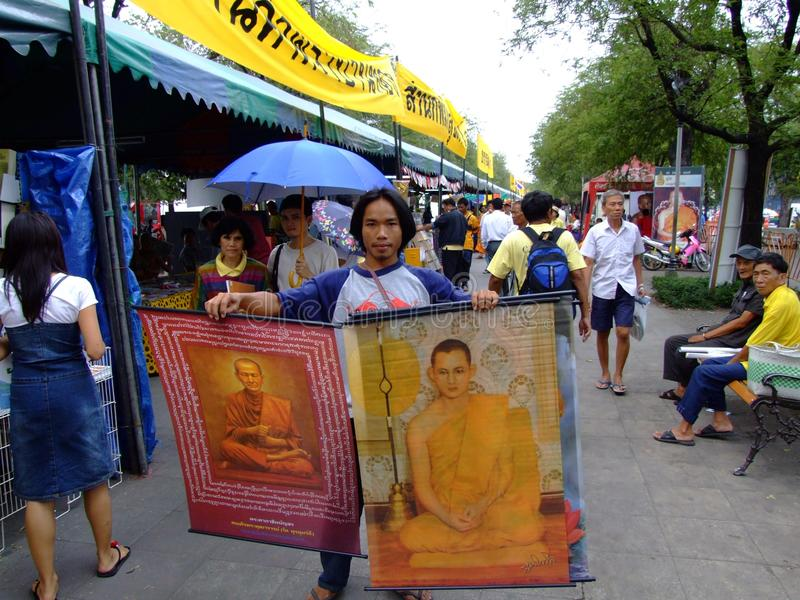 Rua em Banguecoque, Tailândia. imagens de stock