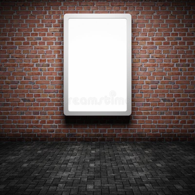 Rua em branco que anuncia o quadro de avisos ilustração stock