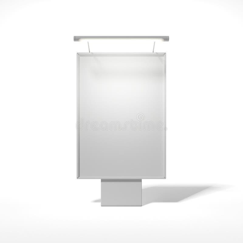Rua em branco que anuncia o quadro de avisos imagem de stock