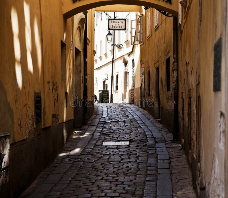 Rua em Bratislava imagem de stock royalty free