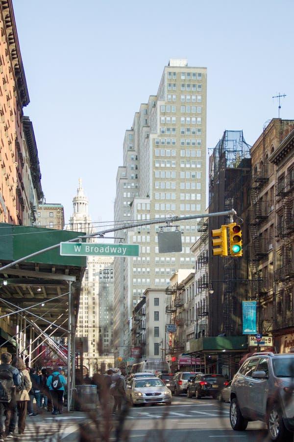 Rua em Broadway imagem de stock