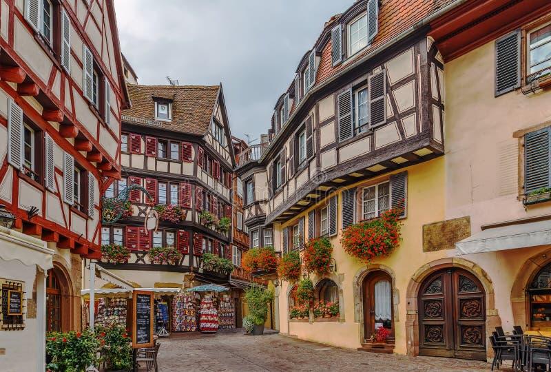 Rua em Colmar, França fotos de stock