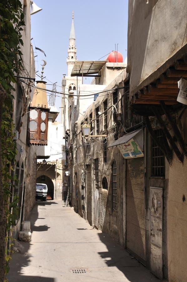 Rua em Damasco velha fotos de stock
