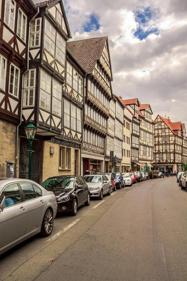 Rua em Hannover Alemanha imagens de stock