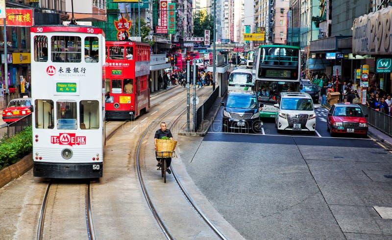 Rua em Hong Kong fotografia de stock royalty free