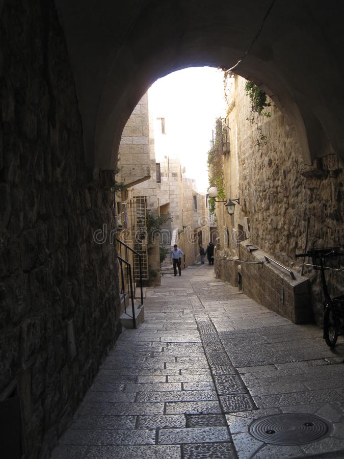 Rua em Jerusalem fotos de stock royalty free