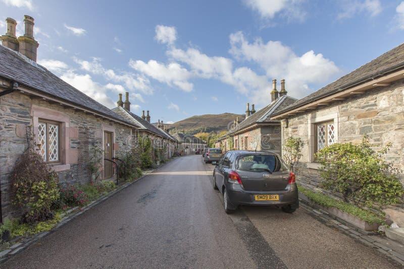Rua em Luss Escócia imagem de stock royalty free