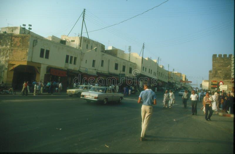 Rua em Meknes imagens de stock royalty free