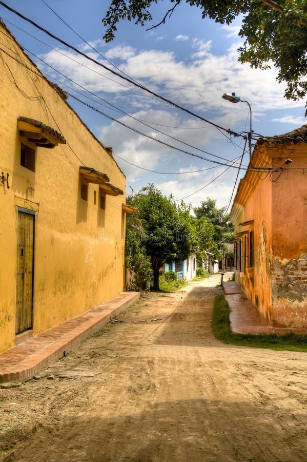 Rua em Mompox foto de stock