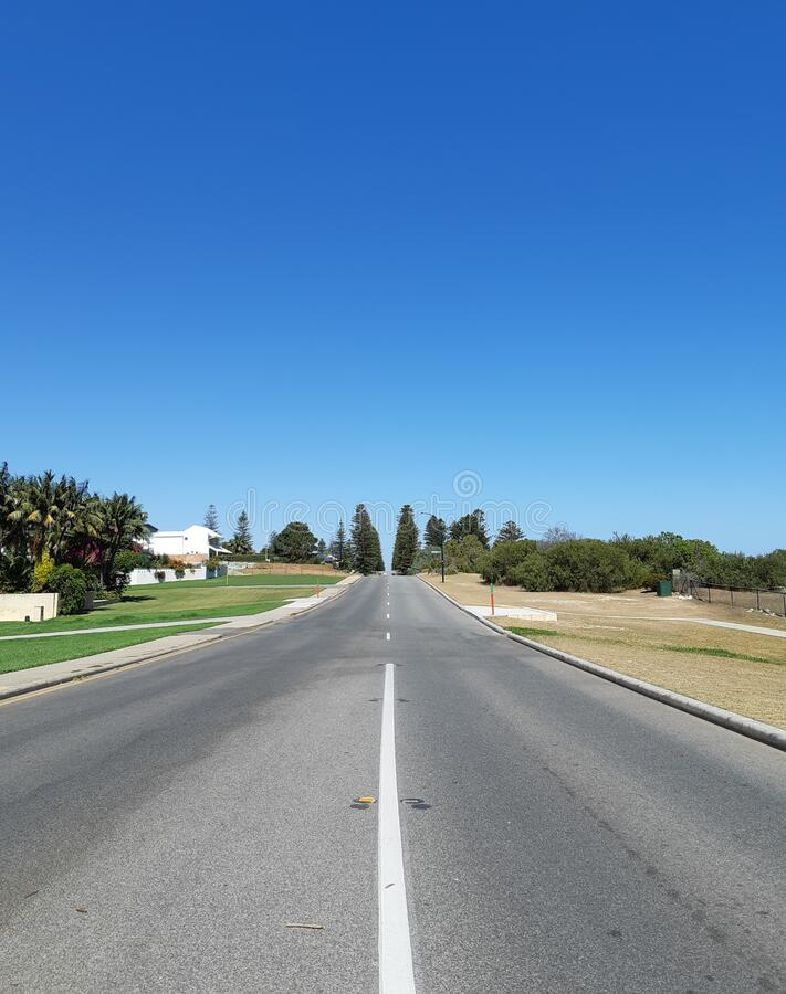 Rua em Perth, Austrália fotos de stock royalty free