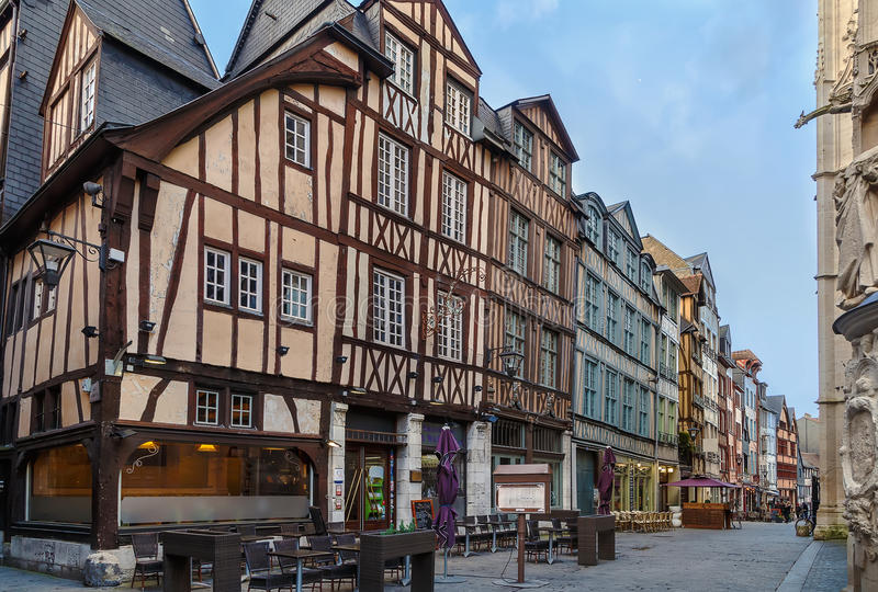 Rua em Rouen, França fotos de stock