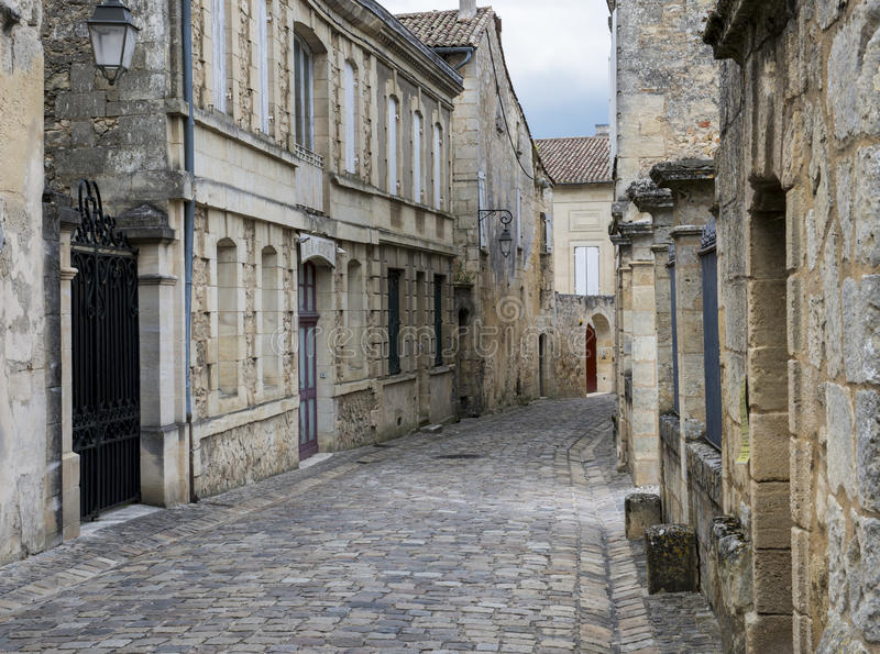 Rua em Saint Emilion fotos de stock royalty free