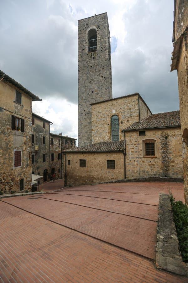 Rua em San Gimignano, Itália imagens de stock royalty free