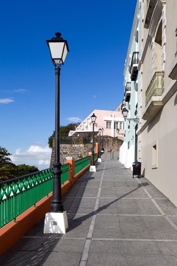 Rua em San Juan foto de stock