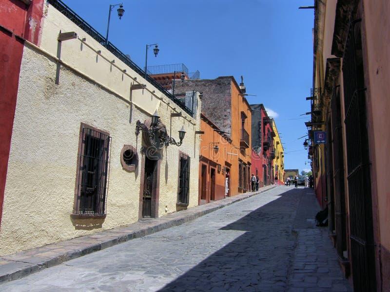 Rua em San Miguel de Allend fotografia de stock