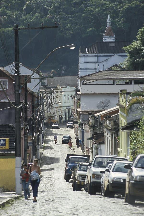 Rua em Santa Teresa, Espirito Santo, Brasil imagens de stock
