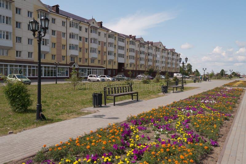 Rua em Tobolsk. Sibéria. Rússia imagem de stock royalty free