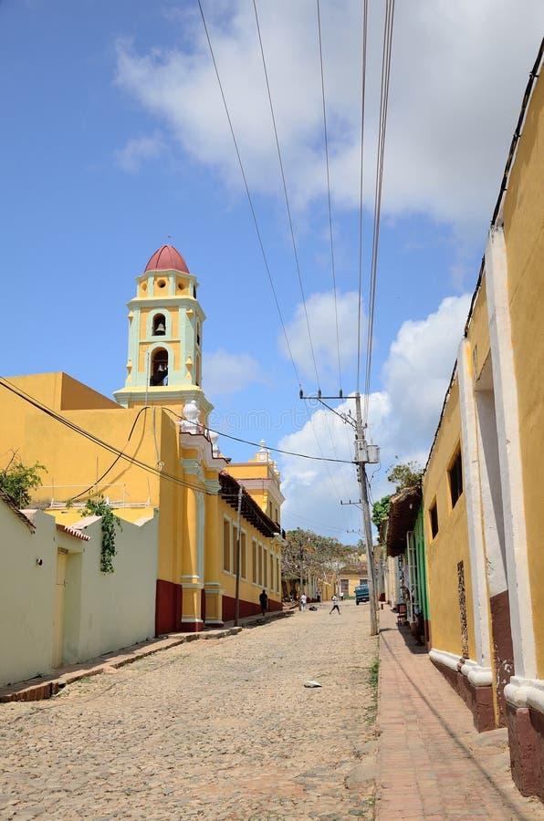 Rua em Trinidad, Cuba fotos de stock