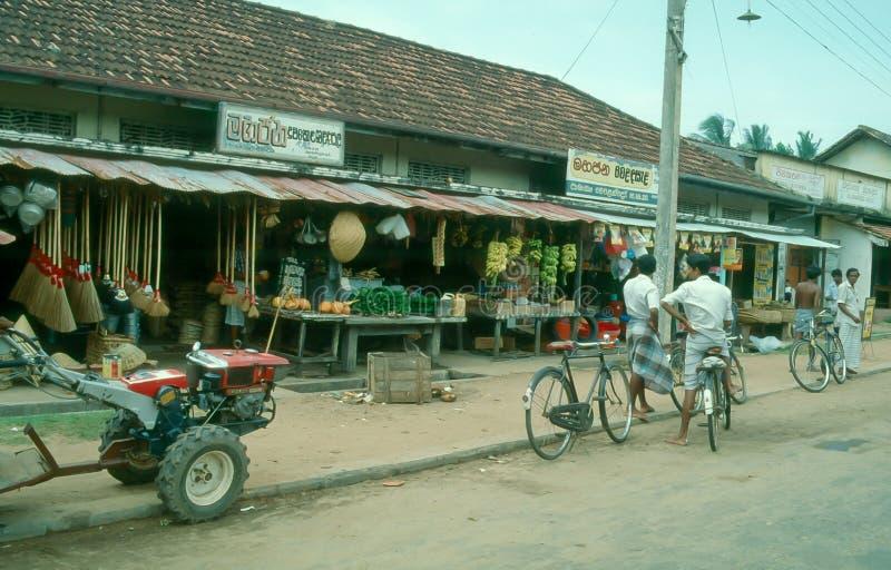 Rua em Wadduwa, Sri Lanka imagens de stock royalty free