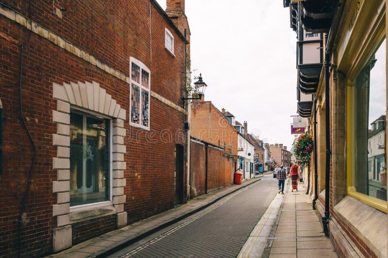 Rua em Winchester foto de stock