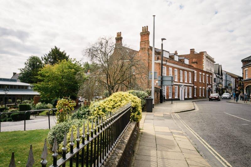 Rua em Winchester imagens de stock
