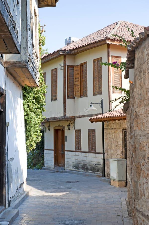 Rua estreita da cidade velha. fotografia de stock royalty free
