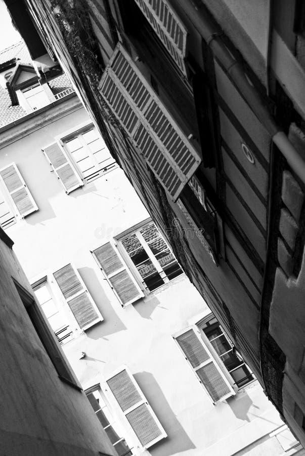 Rua estreita de Strasbourg imagens de stock