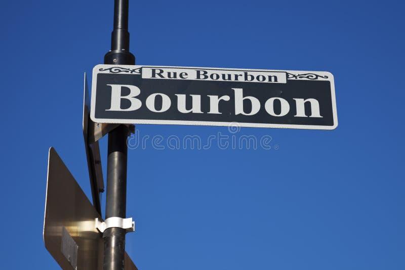 Rua famosa de Bourbon fotos de stock royalty free
