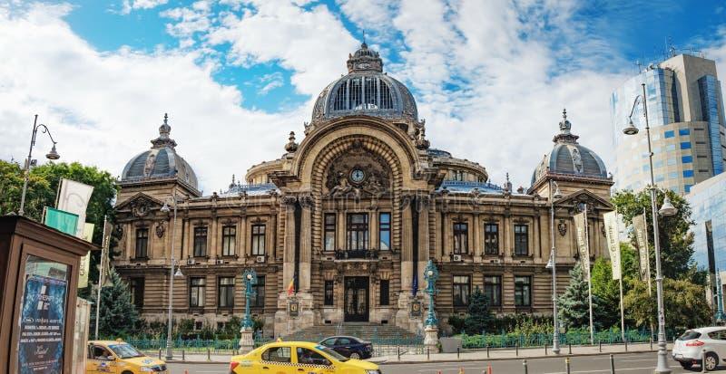 Rua histórica de Lipscani do centro em Bucareste fotografia de stock