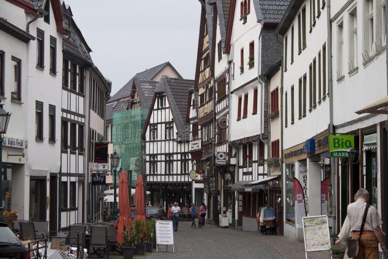 Rua histórica em Muenstereifel mau foto de stock royalty free