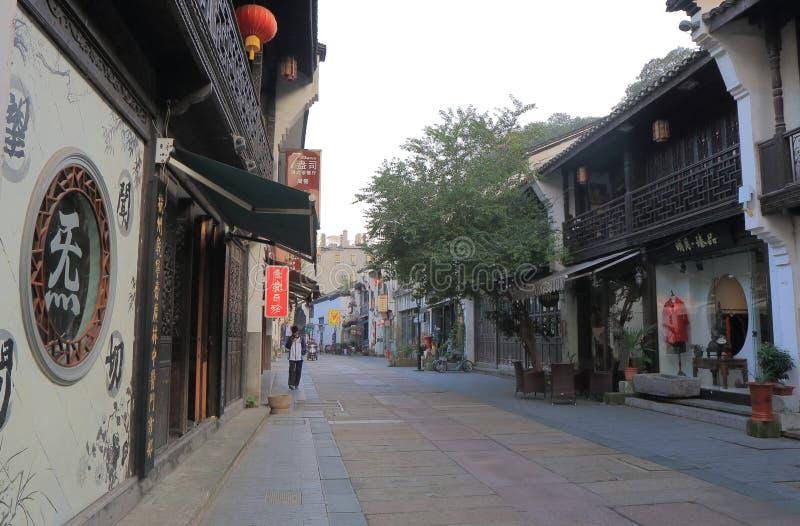 Rua histórica Hangzhou China de Qing He Fang imagem de stock royalty free