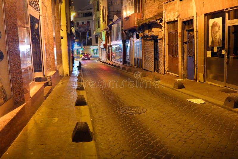 Rua histórica Kasimpasa Istambul fotografia de stock royalty free