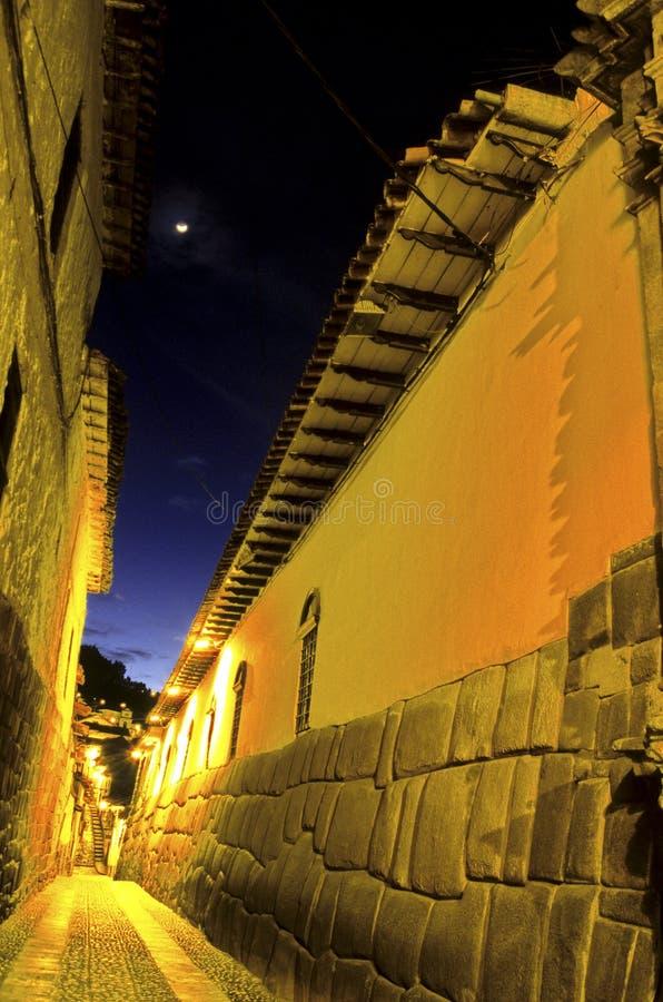 Rua Incan Cusco, Peru imagens de stock royalty free