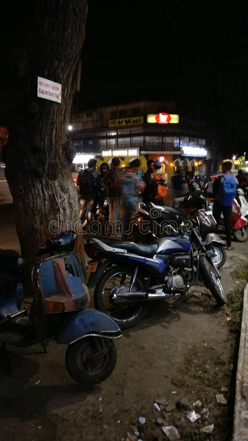 Rua indiana ocupada fotografia de stock
