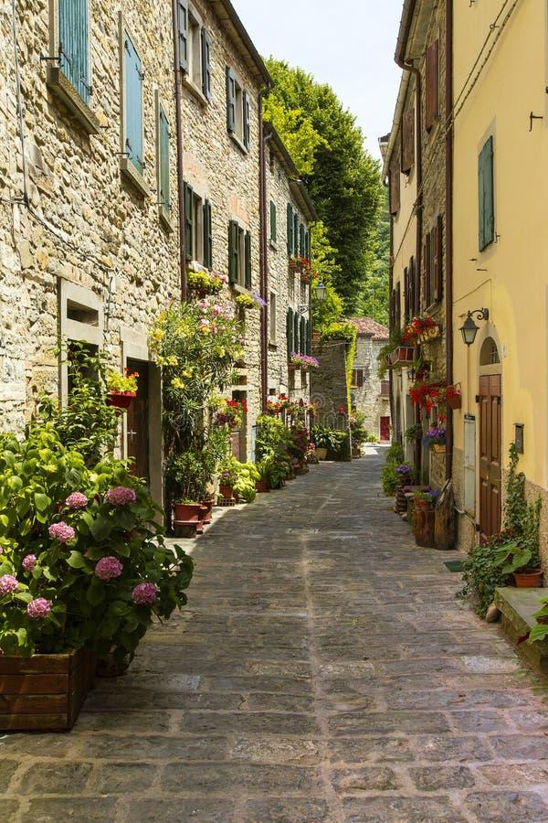 Rua Itália provincial fotografia de stock