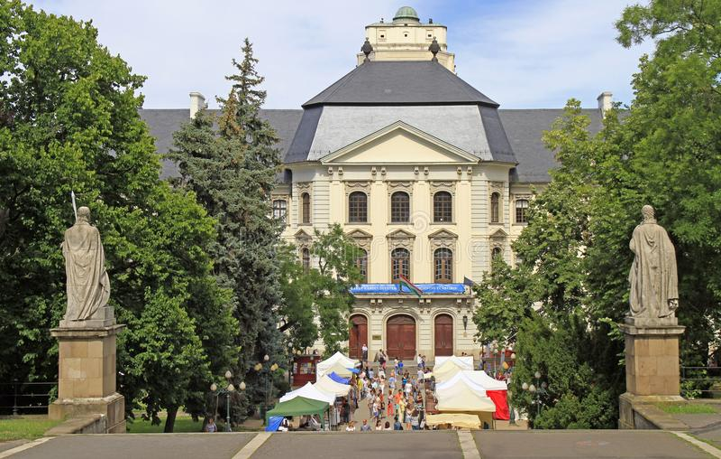 Rua justa no festival popular anual em Eger, Hungria imagem de stock royalty free