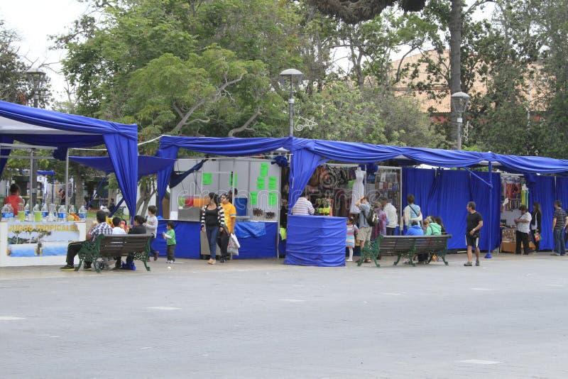 Rua justa no La Serena Chile imagem de stock