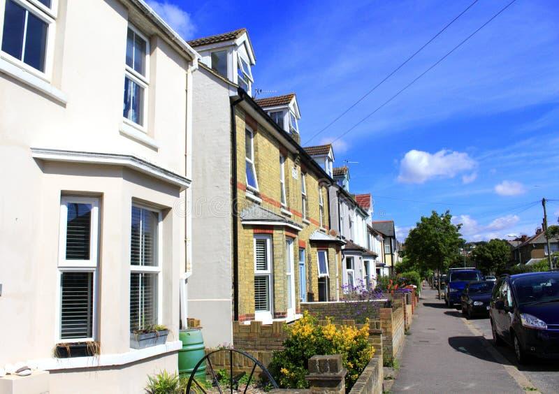 Rua Kent England da cidade de Hythe foto de stock