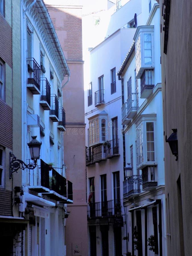 Rua a Malaga-Andaluzia dos Salinas foto de stock royalty free