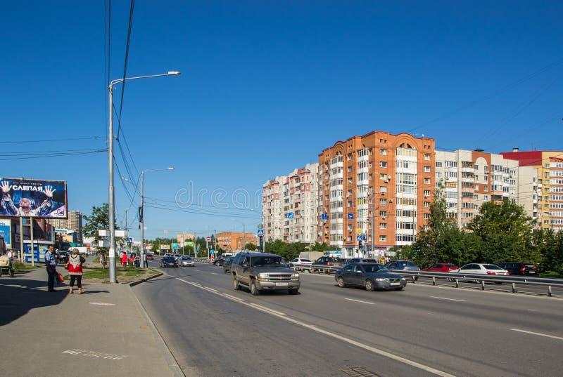 Rua Melnikaite de Tyumen imagem de stock