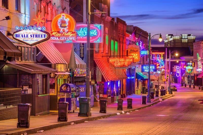 Rua Memphis Tennessee de Beale imagem de stock