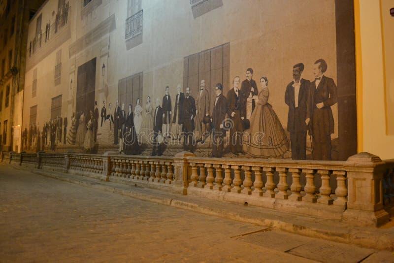 Rua mural de Havana Mercaderes fotos de stock royalty free
