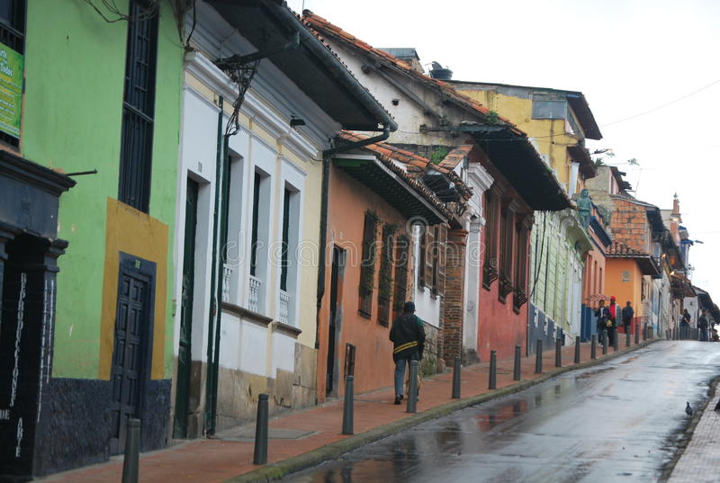 Rua na Bogotá imagens de stock